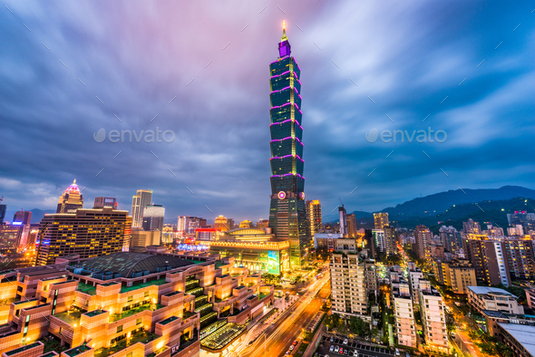 Taipei Taiwan Skyline - Stock Photo - Images