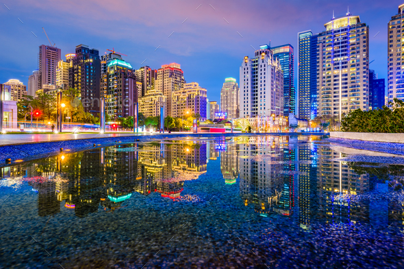 Taichung, Taiwan Cityscape - Stock Photo - Images