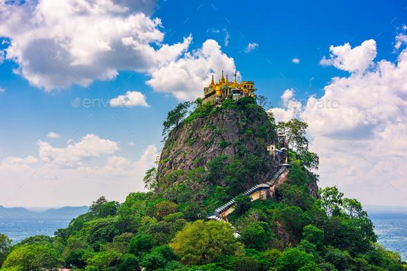 Mt. Popa in Myanmar - Stock Photo - Images