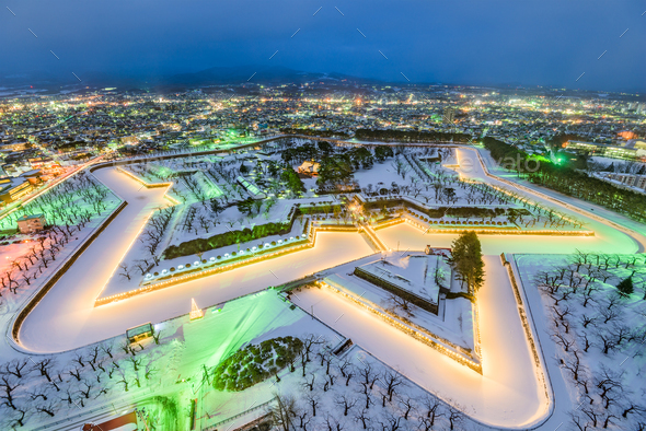 Hakodate Japan Fort - Stock Photo - Images