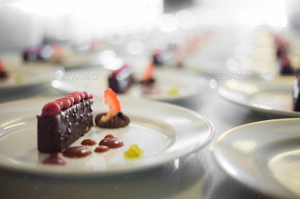 Desserts prepared to serve - Stock Photo - Images