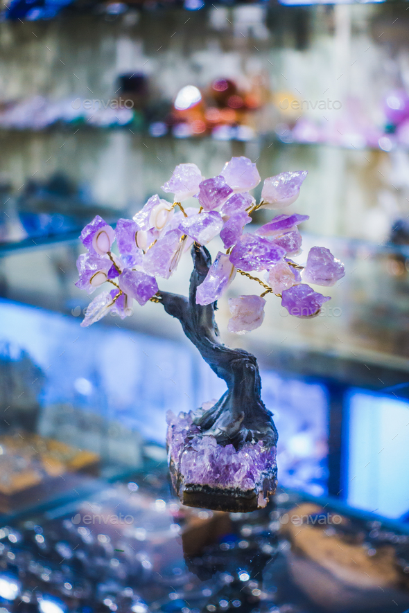 Precious Amethyst Stone Tree - Stock Photo - Images