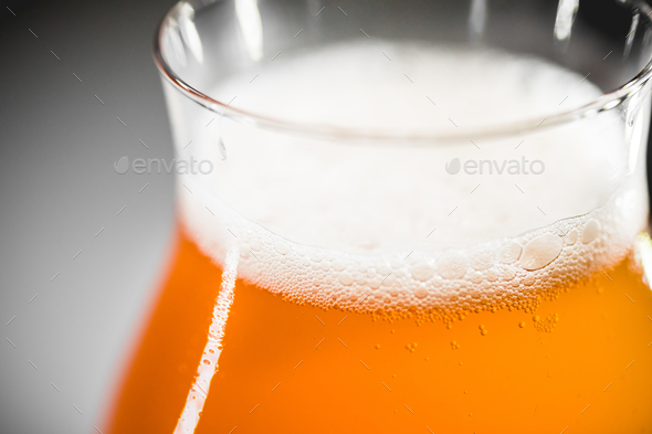 Close-up glass of rhubarb beer - Stock Photo - Images