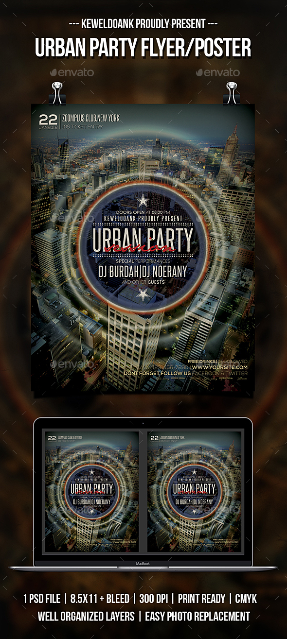 Urban Party Flyer / Poster - Clubs & Parties Events