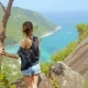 Girl Enjoy Picturesque View of the Island at a Height - VideoHive Item for Sale