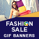 Fashion Sale Animated GIF Banner Set