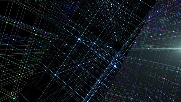 VideoHive Hologram Network Background 21234437