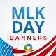 Martin Luther King Day Sale Banner Set