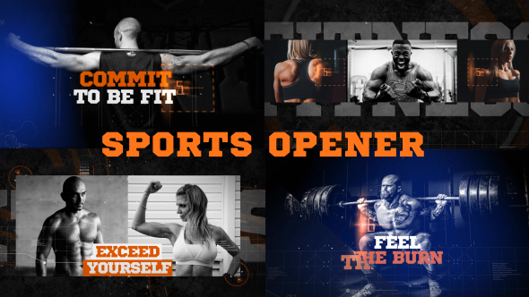VideoHive Fitness Action Sports Opener 21234577