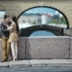Couple in Love Having Romantic Tender Moments in European City - VideoHive Item for Sale