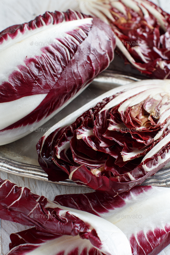 Raw red chicory - Stock Photo - Images