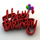 Happy Birthday 3d Text - GraphicRiver Item for Sale