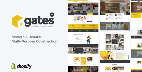 Image of Gates - Multi-Purpose Construction Website Shopify Theme