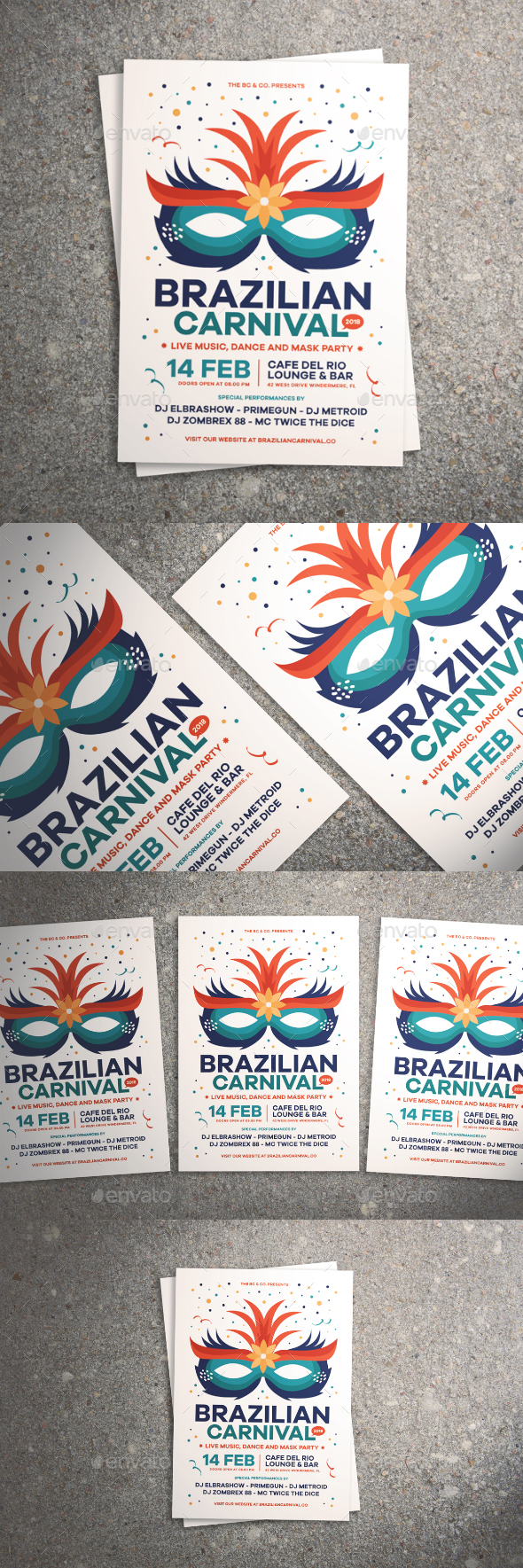 Brazilian Carnival Flyer - Events Flyers