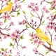 Watercolor Spring Floral Vector Pattern - GraphicRiver Item for Sale