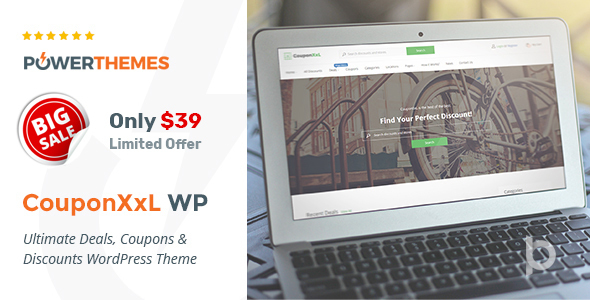 CouponXxL - Deals, Coupons & Discounts WP Theme - Directory & Listings Corporate