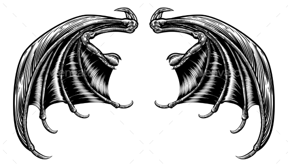 Bat or Dragon Wings - Miscellaneous Vectors
