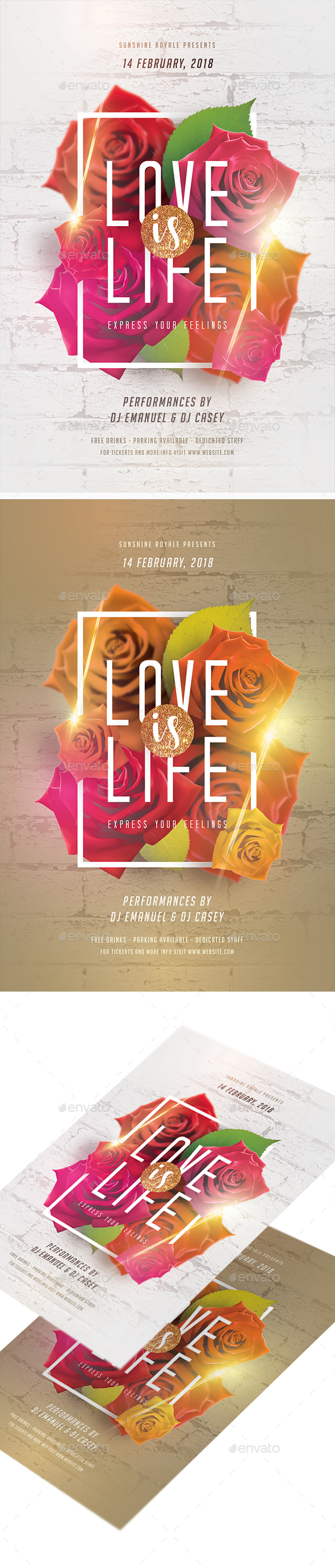 Love Is Life Party Flyer - Clubs & Parties Events