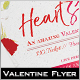 Heart Stamp Valentine Flyer - GraphicRiver Item for Sale
