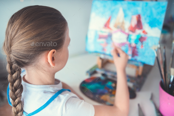 Little girl in class - Stock Photo - Images