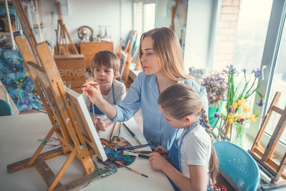 Teacher and pupils - Stock Photo - Images