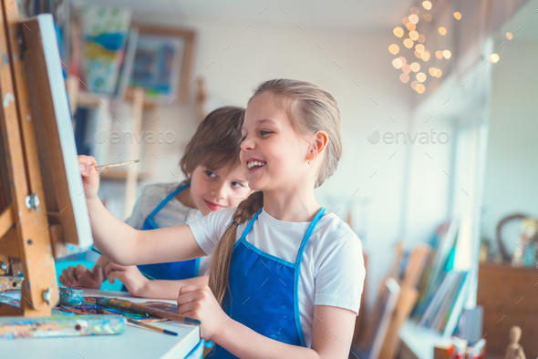 Painting school - Stock Photo - Images