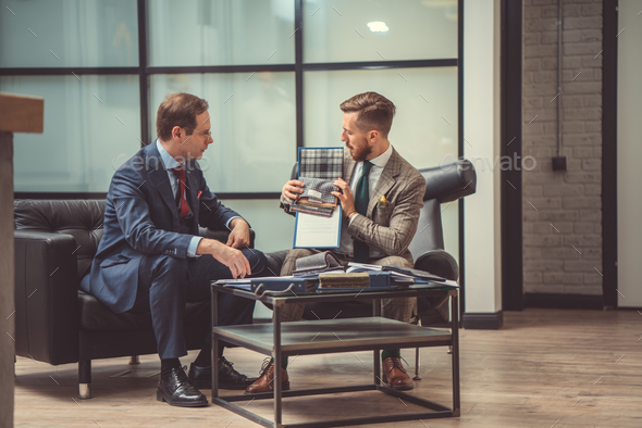 Businessmen at meeting - Stock Photo - Images