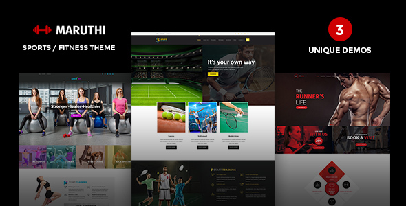 Maruthi - Fitness, Gym, Sports WordPress Theme