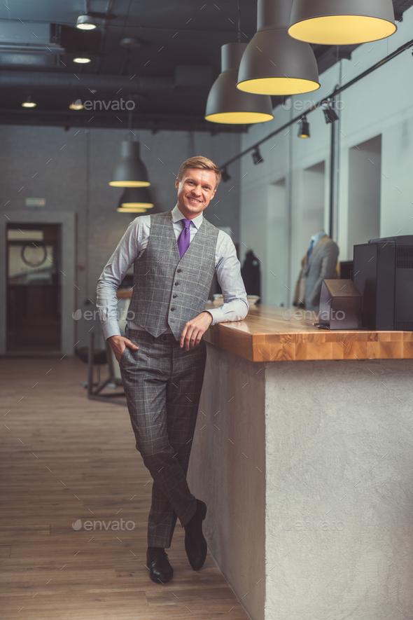Businessman in studio - Stock Photo - Images