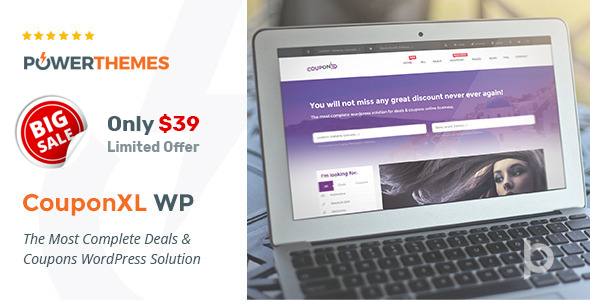 CouponXL - Coupons, Deals & Discounts WP Theme