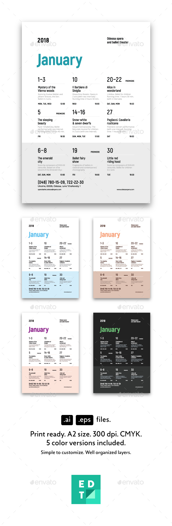 Schedule Event Poster, Vol.4 - Events Flyers