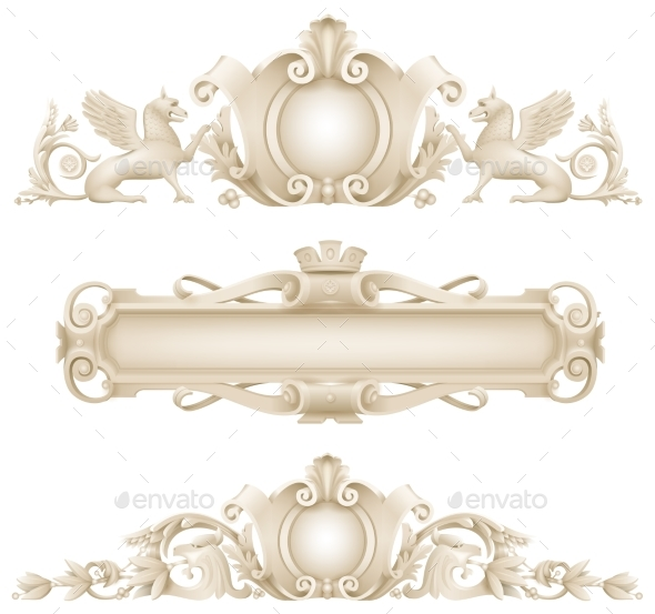Classic Architectural Facade Decor - Objects Vectors