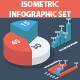 Isometric Infographic diagramm set