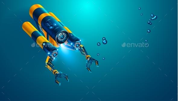 Autonomous Underwater Rov with Manipulators - Technology Conceptual