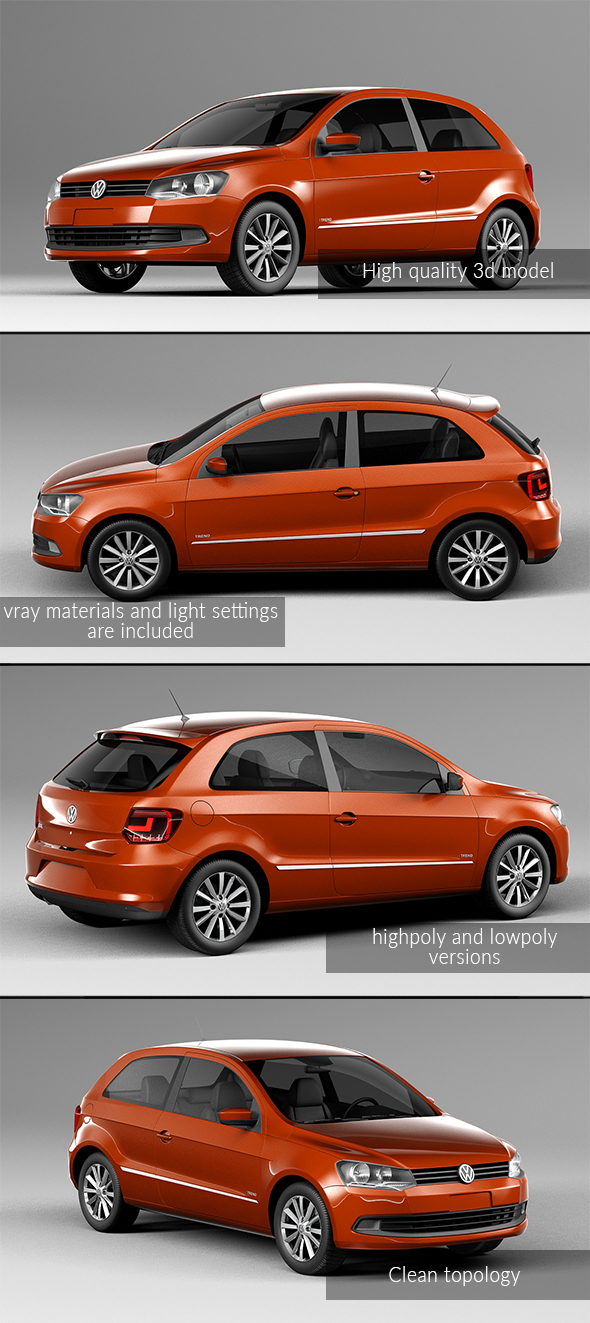 Volkswagen Golf - 3DOcean Item for Sale