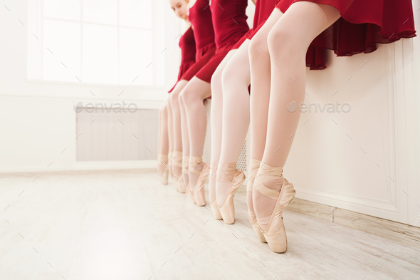 Ballet background, young ballerinas training - Stock Photo - Images
