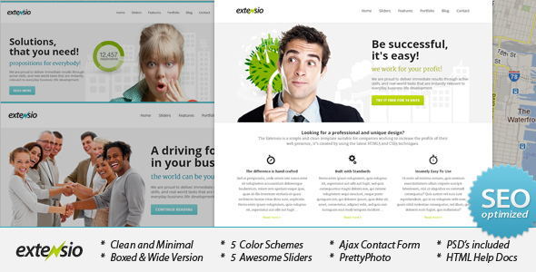 Extensio - Elegant and Minimal Business Template - Business Corporate