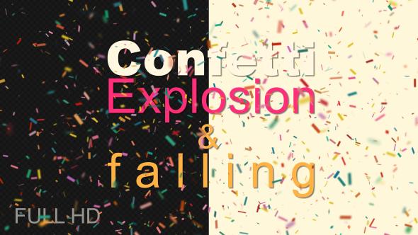 VideoHive Confetti Falling 21235954