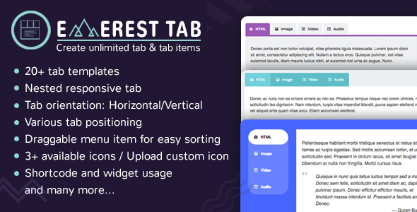 Everest Tab - Responsive Tab Plugin For WordPress - CodeCanyon Item for Sale