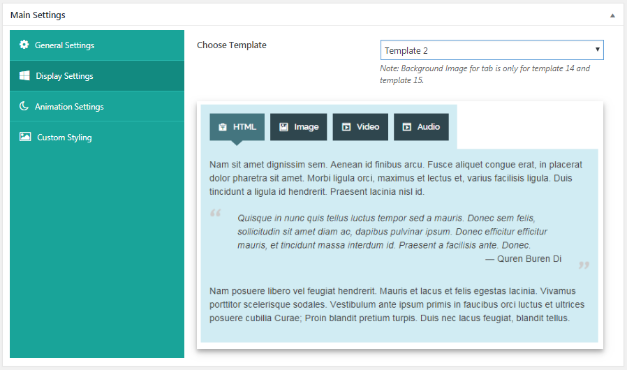 Everest Tab - Responsive Tab Plugin For WordPress