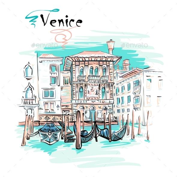 Vector Palazzo on the Grand Canal, Venice, Italia - Miscellaneous Vectors