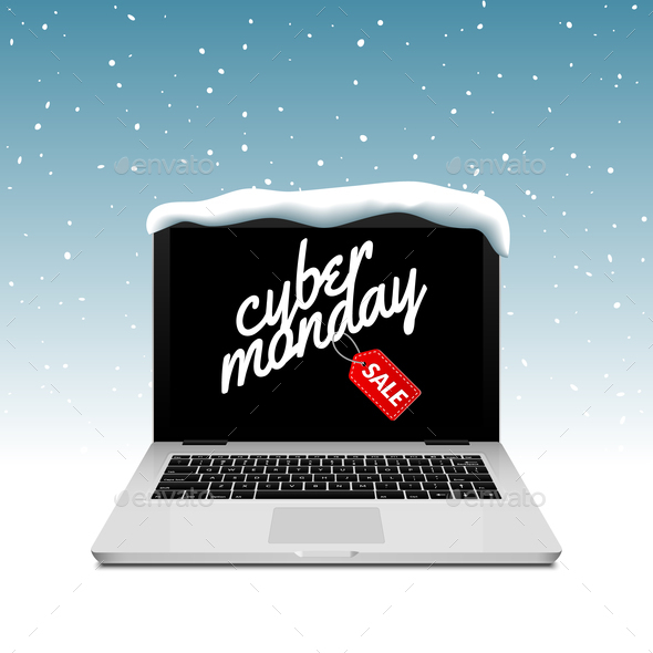 Cyber Monday sign on laptop  - Business Conceptual