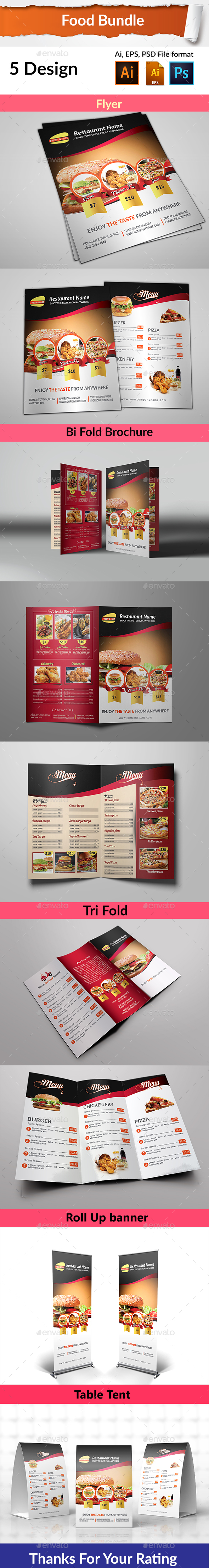 Food Bundle - Food Menus Print Templates