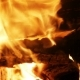 Burning Wood In The Fireplace - VideoHive Item for Sale