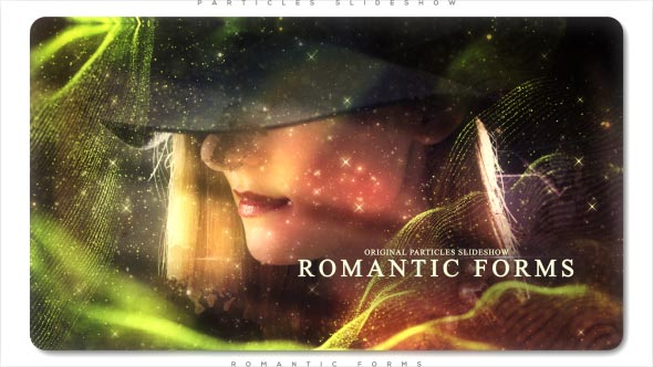 VideoHive Romantic Forms Particles Slideshow 21236600