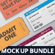 Ticket Mockup Bundle