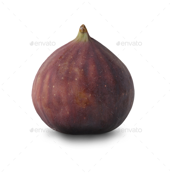 Fresh fig isolated at white - Stock Photo - Images