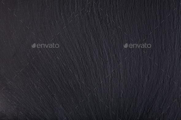 Black slate stone background - Stock Photo - Images