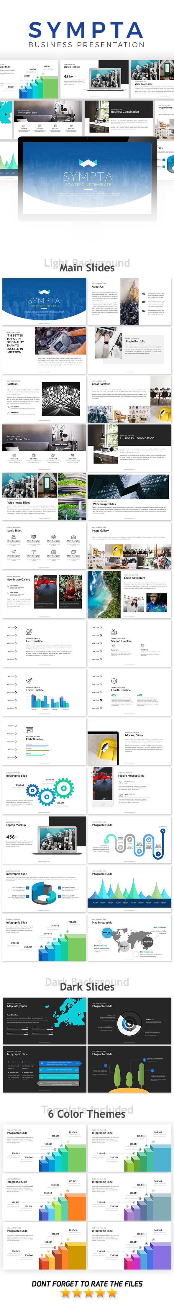 Sympta Presentation Template - Business PowerPoint Templates