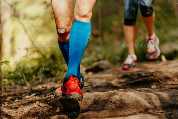 woman feet runner - Stock Photo - Images